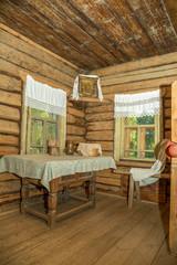 Убранство русской деревянной избы 19 века