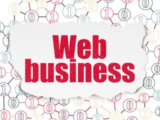 Web design concept: Web Business on Torn Paper background