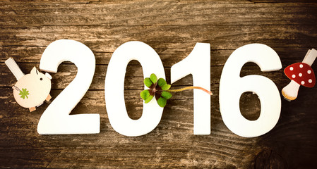 Silvester Neujahr Karte