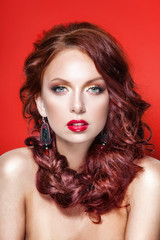 red hair beauty woman portrait