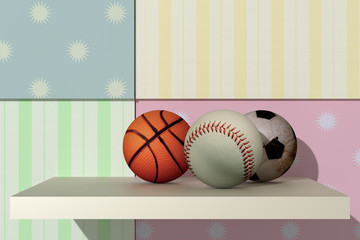 basketball, baseball, soccer