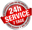 "Button Banner ""24h Service"" rot/silber"