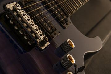 Electric guitar up close