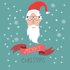 Merry christmas  hipster santa claus vector. illustration EPS10.