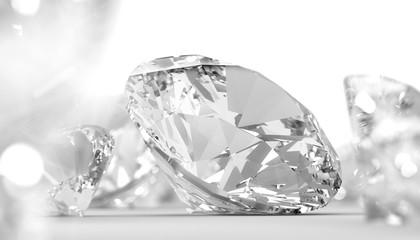 Round diamonds jewelry bright closeup