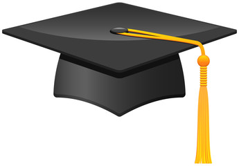 Mortarboard, vector icon.