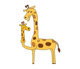 Жираф и его кукла - друг