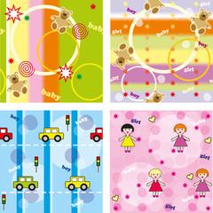 Kids seamless multi-colored texture