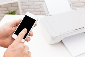 Printer and smartphone