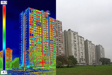 Infrared and real image on Residential building_10