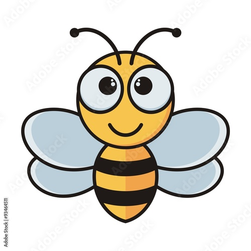 simple cartoon bee vector - Simple Cartoon Pics