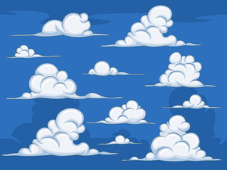 Daytime cartoon clouds