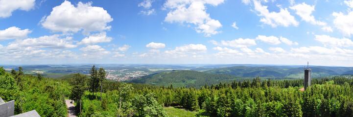 Blick vom Kickelhahn auf Ilmenau