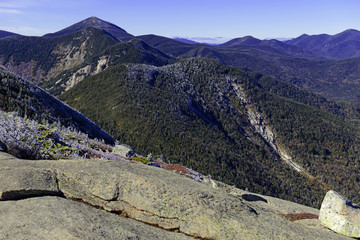 "Alpine landscape near summit on a climb of Gothics Mountain, an Adirondack ""46er"", in the Adirondack Mountains, New York"