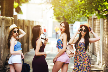 beautiful girls in the city