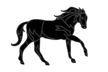 Horse tattoo (gallop)
