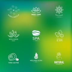 Yoga and wellness logo collection
