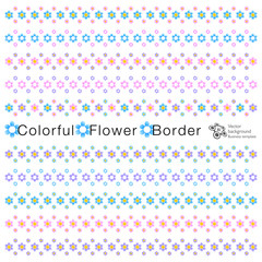 Vector Graphic #Flower Border Material