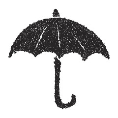 Simple doodle of an umbrella