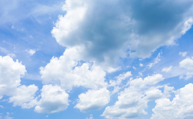 clouds in the blue-sky