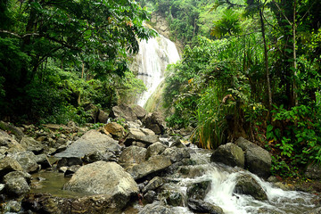 Waterfalls and river photo image