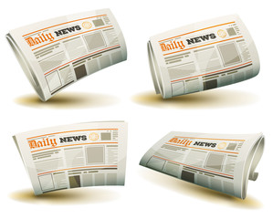 Newspaper Icons Set