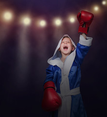 Little boxer triumph his victory