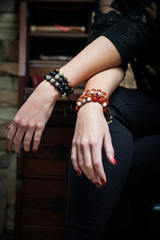 hands with bracelets