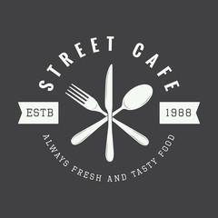 vintage restaurant logo, badge or emblem.