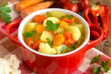 Fotobehang - Vegetable soup