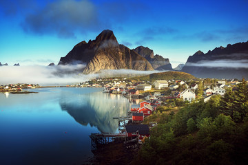 Foto op Aluminium Scandinavië Reine Village, Lofoten Islands, Norway
