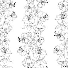 Lily flower pattern.