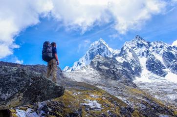 trekking in mountains, Peru, South America