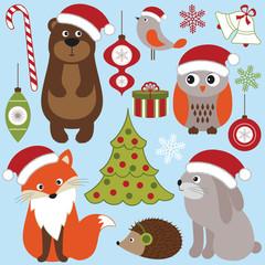 Christmas woodland animals