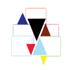 pyramid, illustration, color,