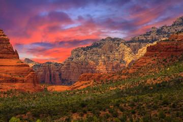 Canvas Prints Magenta Sedona Arizona Sunrise