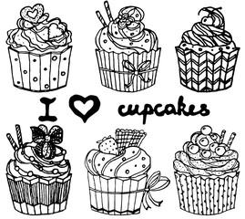 Sketch Cupcakes Set