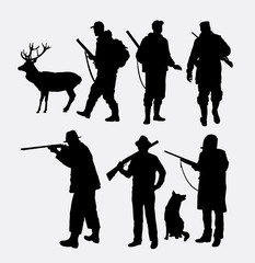 Hunter silhouettes. Good use for symbol, logo, web icon, mascot, or any design you want. Easy to use.