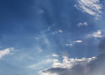 blue sky with cloud, beautiful sunset sky background