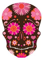 Mexican Skull Art Vector Illustration