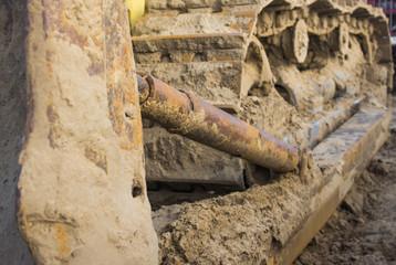 Bulldozer track element
