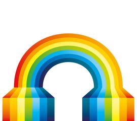 Vector illustration. Rainbow.
