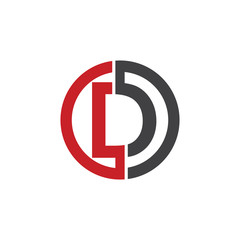 D initial circle company or DO, OD red logo