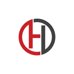 H initial circle company or HO, OH red logo
