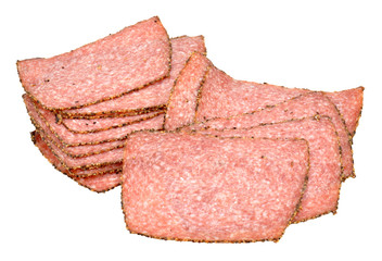 Peppered Salami Meat Slices
