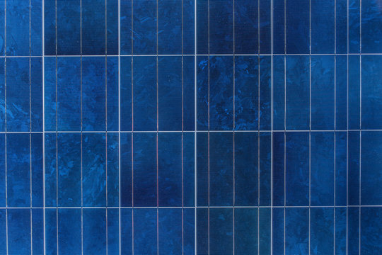 Solar panel or solar cell texture pattern background.