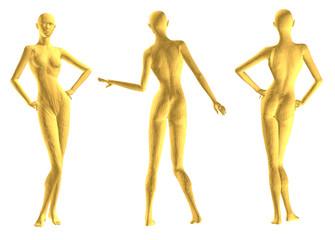 mannequin, gold