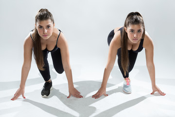 Twin fitness sisters