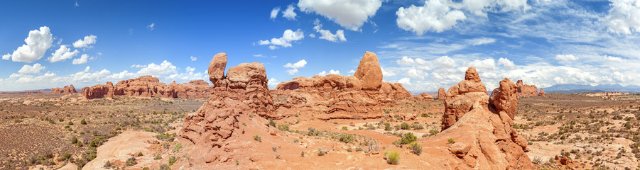 Panorama of the Arches National Park, Utah, USA.