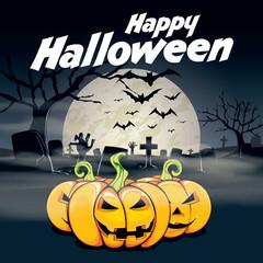 Spooky Happy Halloween card poster invitation